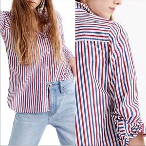 NWT! J. Crew striped boyfriend shirt